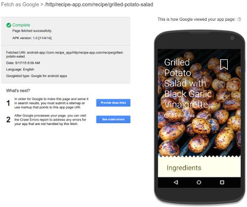 Explorar aplicaciones - Google Search Console