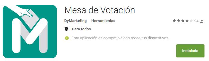 Mesa de votación App